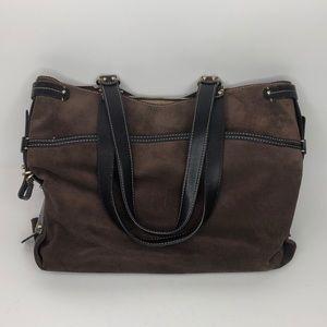 Antonio Milano Suede Brown Purse Shoulder Bag